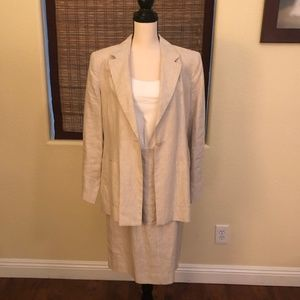 Brook Brothers Ladies Linen Suit - Taupe